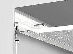 B+M ceiling-strip-installatie