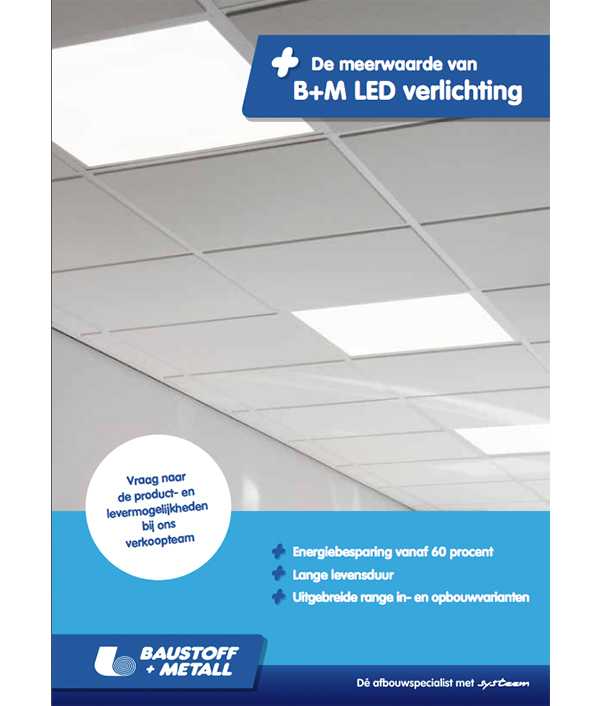 Plafond met B+M LED Verlichting