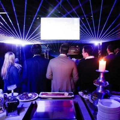 Lasershow Opening Baustoff + Metall Zwolle