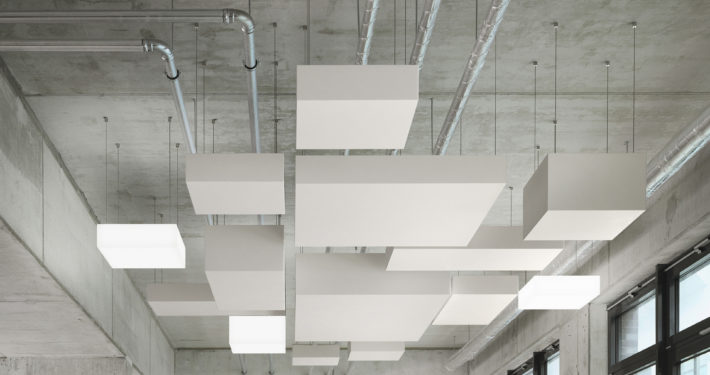 Kubusvormig plafondeiland OWA