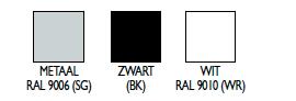 Plafondophangsystemen RAL-kleuren
