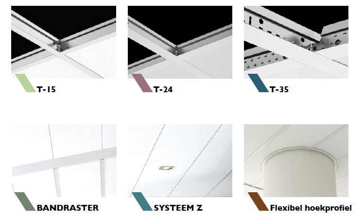 Ophangsystemen plafond Q-Line