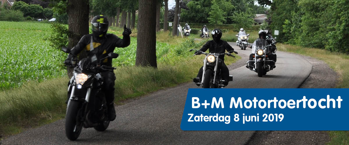 Motorrijders Motortoertocht Baustoff + Metall